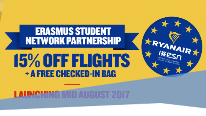 Kedvezmény Erasmus programban résztvevő diákoknak