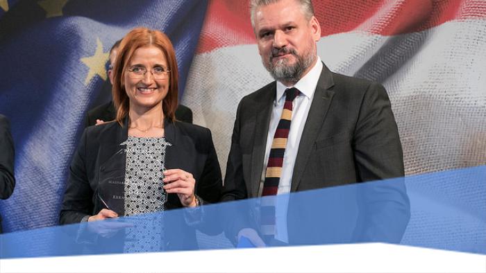 """Kiosztották a """"Magyarországért Európában"""" díjat"""